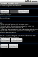 Screenshot of Automatic Bluetooth Toggle