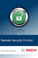Screenshot of Bosch Remote Security Control