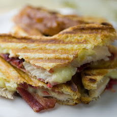 Turkey, Cranberry, Brie and Bacon Panini