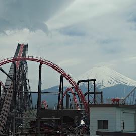 Fuji-Ya with Mt. Fuji by Randall Ong - City,  Street & Park  Amusement Parks