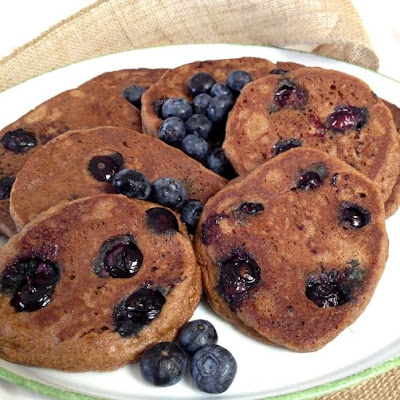 Almond Flour, Blueberry Pancakes