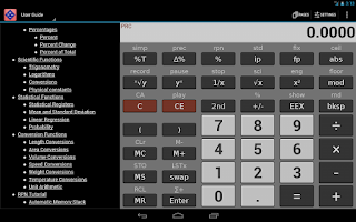 Screenshot of NeoCal Scientific Calculator