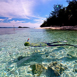 Snorkling at Togean by Abdul Aziz - Sports & Fitness Swimming ( togean )
