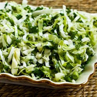 Val's Sweet Cabbage Slaw with Green Onion and Parsley