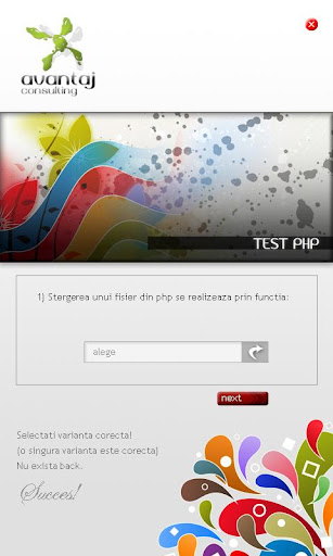 test curs php