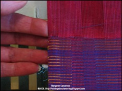 snuggling the weft end to the selvedge2