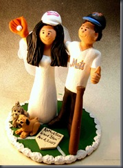 Yankees and Mets Wedding Cake Topper