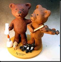 Gay Bear's Wedding Cake Topper