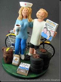 Bicycle Wedding Cake Topper 3
