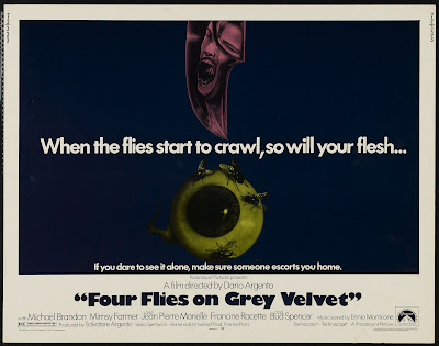 Four Flies on Grey Velvet (4 mosche di velluto grigio) (1971, Italy) movie poster