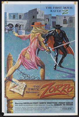 The Erotic Adventures of Zorro (1972, France / USA / Germany) movie poster