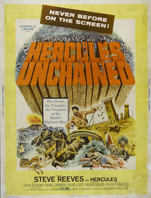 Hercules Unchained (Ercole e la regina di Lidia / Hercules and the Queen of Lydia) (1959, Italy / France / Spain) movie poster