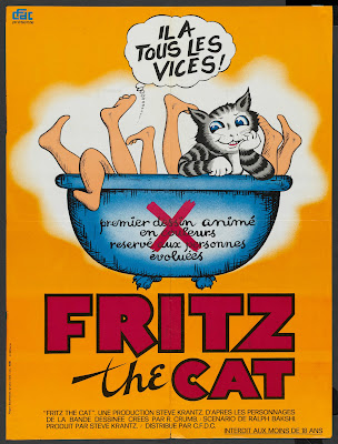 Fritz the Cat (1972, USA) French poster
