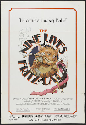 The Nine Lives of Fritz the Cat (1974, USA) movie poster