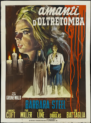 Nightmare Castle (Gli Amanti d'oltretomba / Lovers from Beyond the Tomb, aka The Faceless Monster) (1965, Italy) movie poster