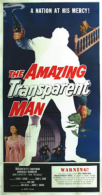 The Amazing Transparent Man (1960, USA) movie poster