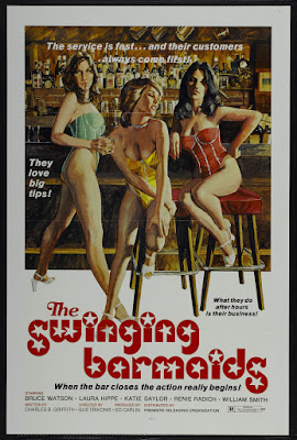 The Swinging Barmaids (1975, USA) movie poster