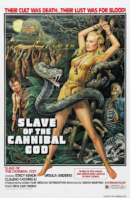 The Mountain of the Cannibal God (La Montagna del dio cannibale, aka Slave of the Cannibal God, aka Prisoner of the Cannibal God) (1978, Italy) movie poster