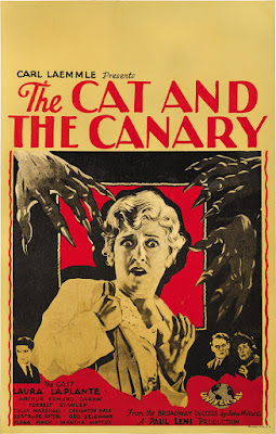 The Cat and the Canary (1927, USA) movie poster