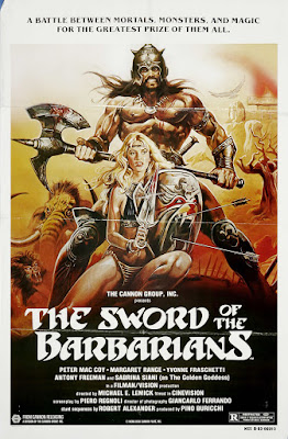 The Sword of the Barbarians (Sangraal, la spada di fuoco / Sangraal, The Sword of Fire) (1982, Italy) movie poster