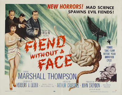 Fiend Without a Face (1958, UK) movie poster