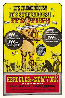 Hercules in New York (1970, USA) movie poster