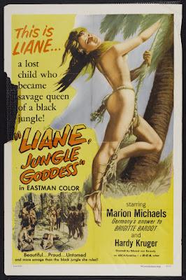 Liane, Jungle Goddess (Liane, das Mädchen aus dem Urwald) (1956, Germany) movie poster