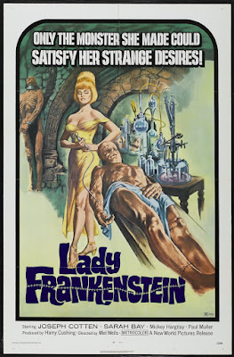 Lady Frankenstein (La Figlia di Frankenstein, aka Daughter of Frankenstein) (1971, Italy) movie poster