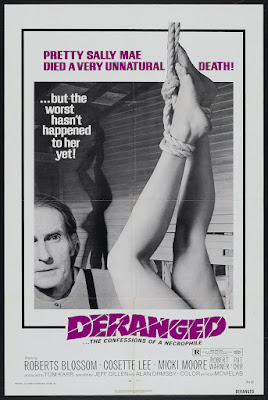 Deranged (1974, Canada / USA) movie poster