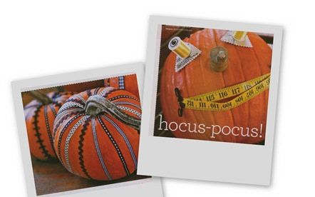 Sewing Pumpkins Collage