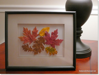 Framed Fall Leaves-1
