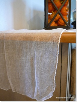 gauze table runner