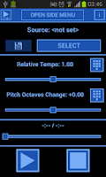 Screenshot of Music Speed Changer