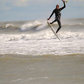 Soaring  by Prentiss Findlay - Sports & Fitness Watersports ( sea, ocean, beach, surf, kiteboarding )