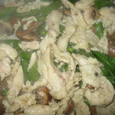 Chicken With Fresh Mushrooms & Snow Peas