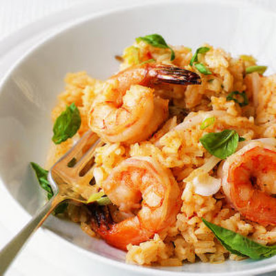 Chili Shrimp and Coconut Risotto