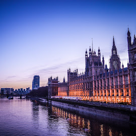 Houses of Parliament by Stuart Lilley - City,  Street & Park  Skylines ( city scape, parliament, building, night photography, london, buildings, architecture, nightscape, city,  )