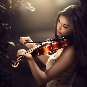 love song by Ivan Lee - People Musicians & Entertainers ( canon, model, girl, violin, beauty )