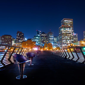 Pier 14, San Francisco  by Dustin Penman - City,  Street & Park  Skylines ( pier, night, penman, san francisco )