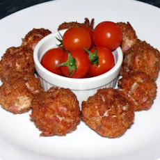Deep Fried Bacon ,chicken and Cheese Balls