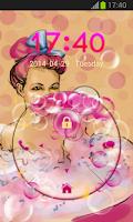 Screenshot of Lock Screen Bubbles