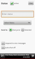 Screenshot of Text Answering Machine Lite