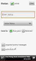 Screenshot of Text Answering Machine Lite
