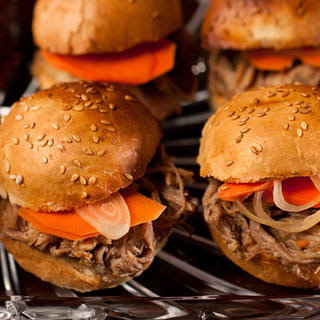 Beer-Braised Pulled Pork Sliders