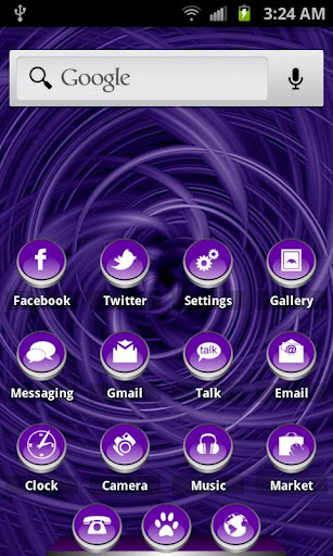 ADWTheme Cute Button HD Violet