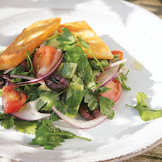 Cook the Book: Fried Halloumi Salad