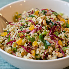 Bulgur Salad with Apricots, Radicchio, Herbs and Walnuts