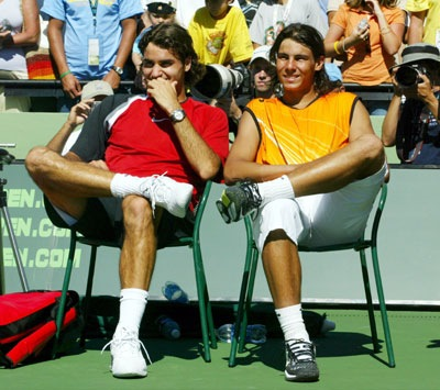 federer nadal sit together