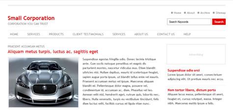 template website css