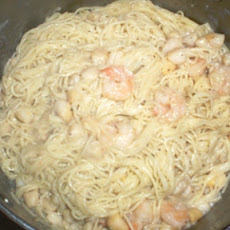Shrimp & Scallop Alfredo Angel-Hair Pasta